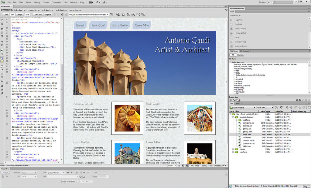 Intro to Adobe Dreamweaver CS6 - Step by Step Lecture ...